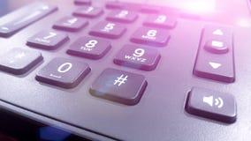 关闭在键盘电话,固定的电话的数字 图库摄影