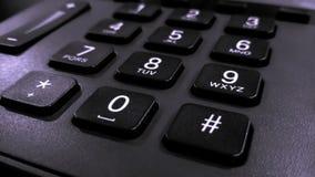 关闭在键盘电话,固定的电话的数字 免版税库存照片