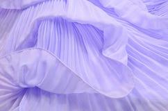 关闭在紫色被打褶的鞋带 图库摄影