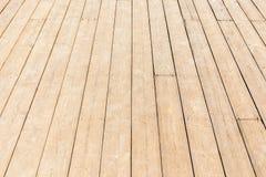 关闭地板新的木纹理与自然样式的 免版税库存图片
