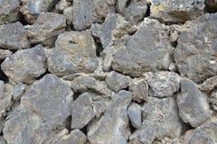 关闭墙壁由熔岩石头制成 免版税库存图片