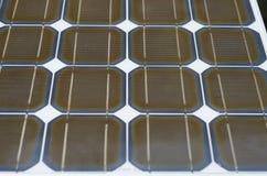 关闭太阳电池板。 免版税库存照片
