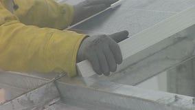 关闭太阳电池板的设施在不利条件的 影视素材