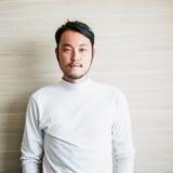 关闭字符设计的日本人面孔 库存图片