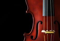 关闭小提琴 免版税图库摄影