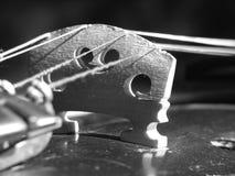 关闭小提琴 免版税库存照片