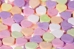 关闭您的甜心的糖果心脏 不要删去消息 免版税库存照片