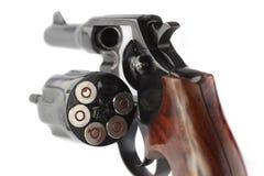 关闭手枪左轮手枪 免版税库存图片