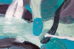 关闭抽象绘画 在油图片的不同的图 免版税库存照片