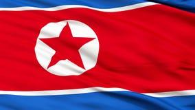 关闭挥动北朝鲜的国旗 影视素材