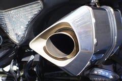 关闭摩托车排气管的射击 免版税库存照片