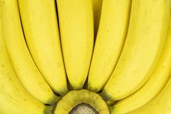 关闭新香蕉背景 免版税库存图片