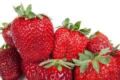 关闭新鲜的草莓,隔绝 免版税库存照片