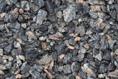 关闭无缝的纹理花岗岩breakstone石渣的 设计用法的被击碎的石背景 库存图片
