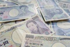 关闭日元货币钞票的图象 库存照片