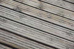 关闭木跳船 步行的木板 免版税库存图片
