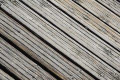 关闭木跳船 步行的木板 免版税库存照片