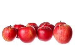 关闭束射击自然健康鲜美新鲜的红色苹果 免版税库存照片