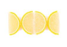 关闭柠檬细分市场果冻 库存图片