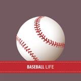 关闭棒球球 库存例证
