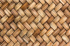 关闭棕色木柳条纹理背景 免版税库存图片