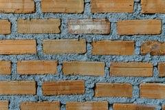 关闭棕色砖墙近期 库存图片