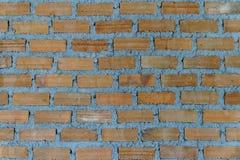 关闭棕色砖墙 免版税库存照片