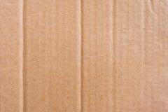 关闭棕色纸板纸箱纹理和背景 免版税库存照片