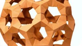 关闭模件origami球 皇族释放例证