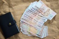 关闭泰国钞票 免版税库存照片