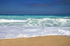 关闭海滩看法  库存照片