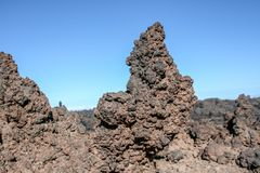 关闭火山岩形成 免版税库存图片