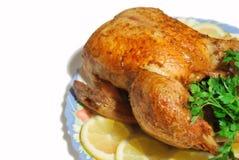 关闭烤鸡 免版税图库摄影