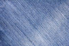 关闭牛仔布蓝色牛仔裤表面纹理背景 免版税库存照片