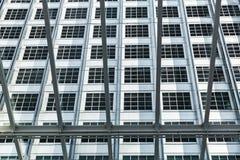 关闭现代大厦照片,显示结构的建筑师,最小的抽象背景 库存照片