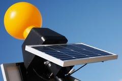 关闭现代太阳电池板技术 免版税库存照片