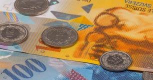 关闭瑞士法郎的图片 免版税库存照片
