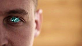 关闭由与未来派3d目标系统的眼珠决定 影视素材