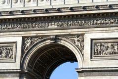 关闭由凯旋门,巴黎,法国,欧洲决定 免版税库存图片