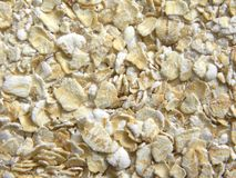 关闭白色和黄色燕麦片 免版税库存照片