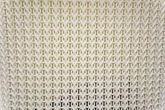 关闭白色塑料被编织的纹理背景 库存照片