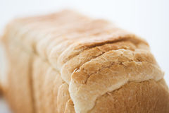 关闭白色多士面包 库存照片