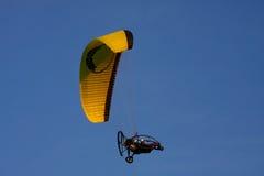 关闭的滑翔伞 库存图片