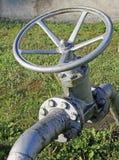 关闭的燃料或气体开-关阀门 免版税库存图片