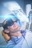 关闭的综合图象一块人的头骨的X-射线 免版税库存照片