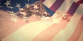 关闭的综合图象我们旗子 免版税库存照片