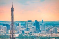 关闭看法在埃佛尔铁塔在巴黎 免版税库存图片