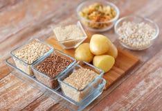 关闭碳水化合物食物 免版税库存照片