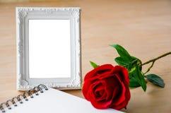 关闭空白的照片框架 免版税库存照片
