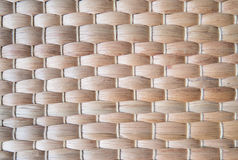 关闭竹板材席子纹理  免版税图库摄影